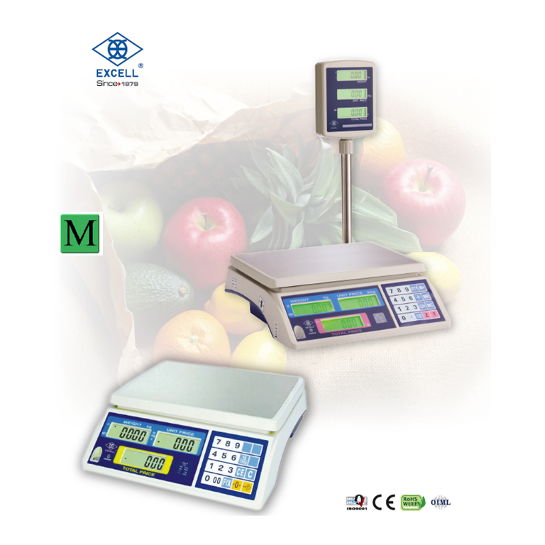 Excell FD3 Series Retail Shop Scales