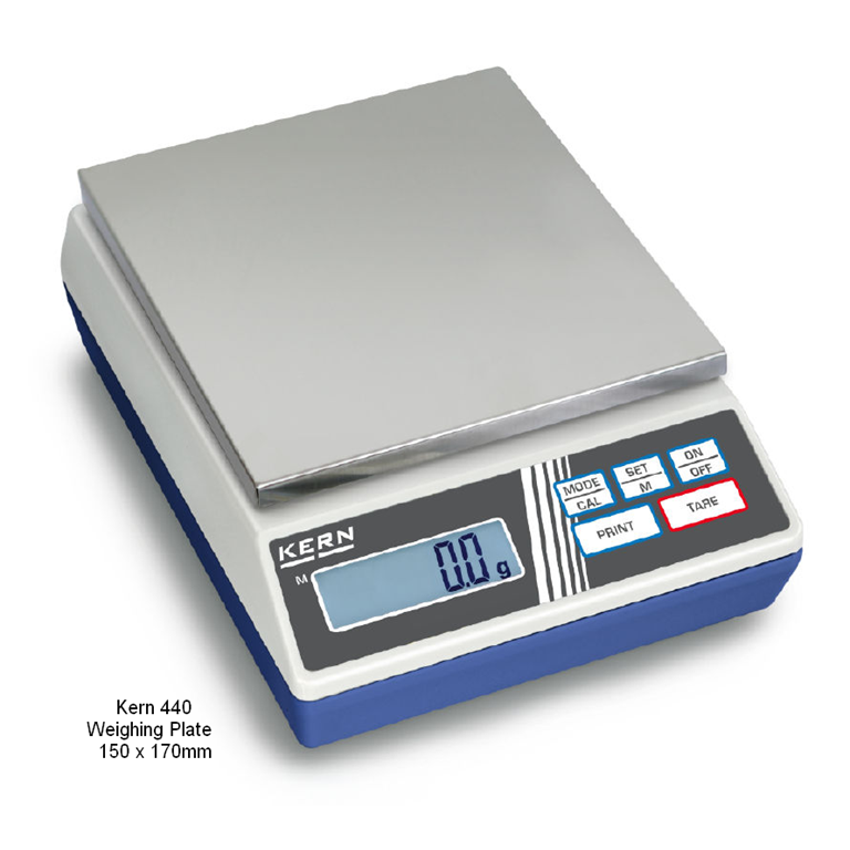 Kern 440 Precision Balances 150x170mm