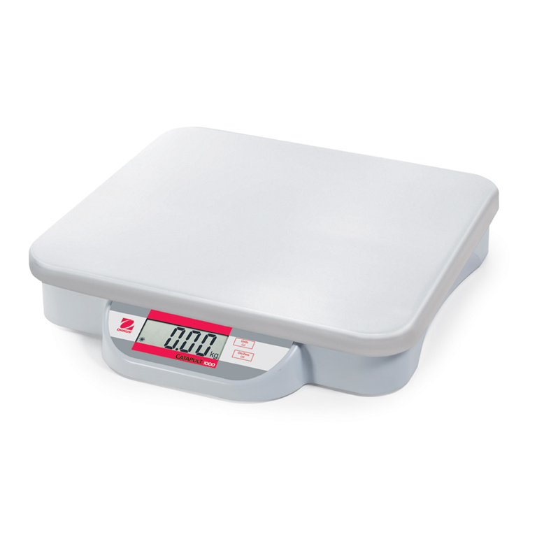 Ohaus Catapult 1000 Bench Scale with standard plastic pan