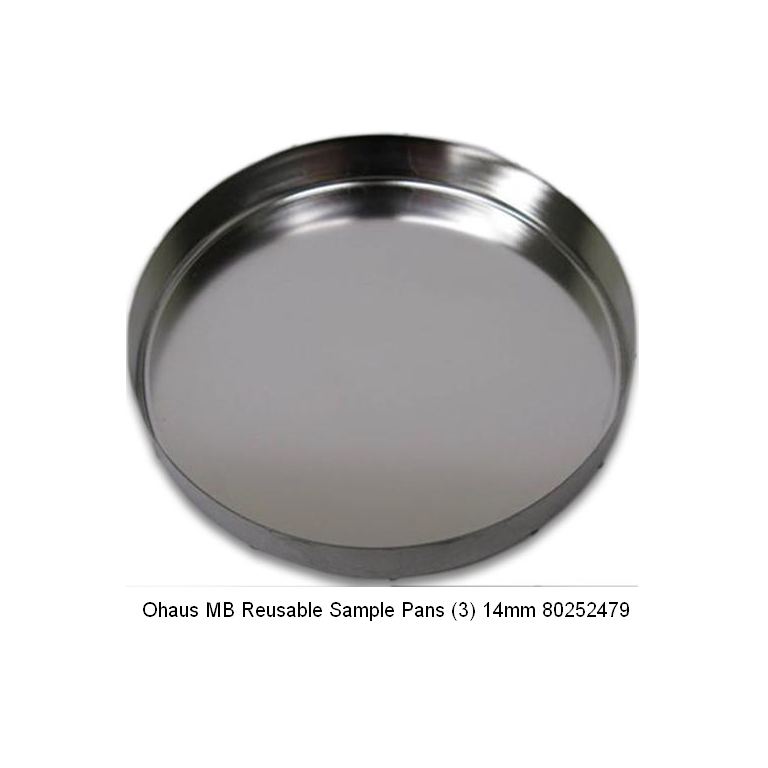 Ohaus Reusable Sample Pans (3) 14mm 80252479