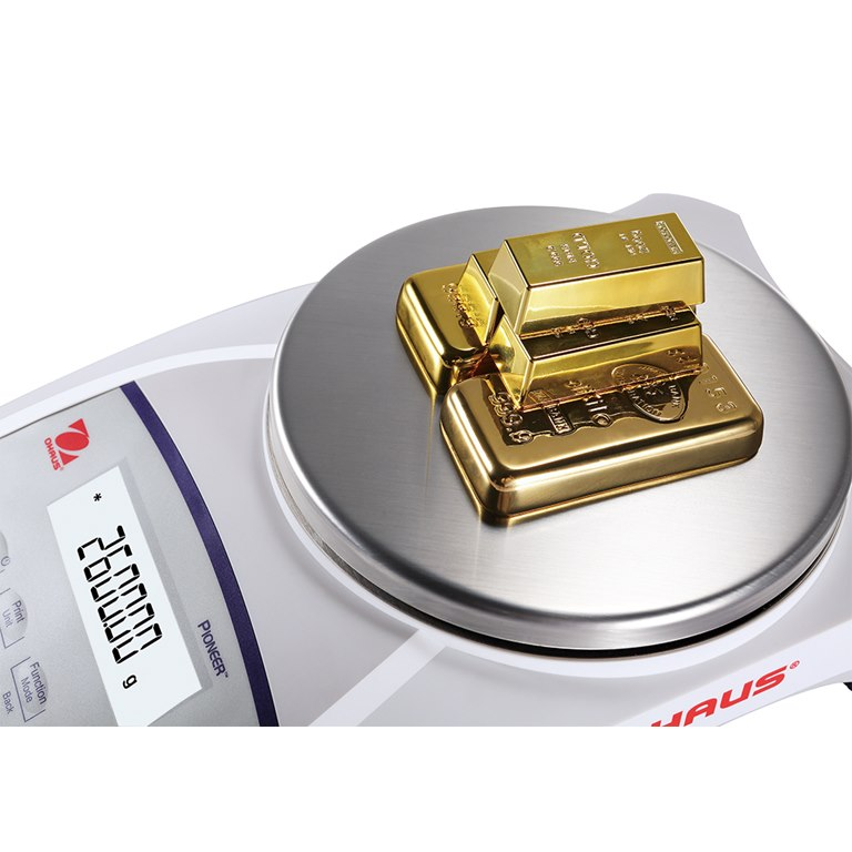 Ohaus Pioneer PJX Gold Balance with M sticker for weighing gold